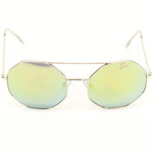 Betsy Johnson Octagon Reflective Sunglasses